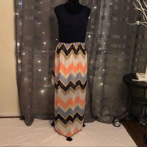 Beautiful Multicolored Maxi Dress